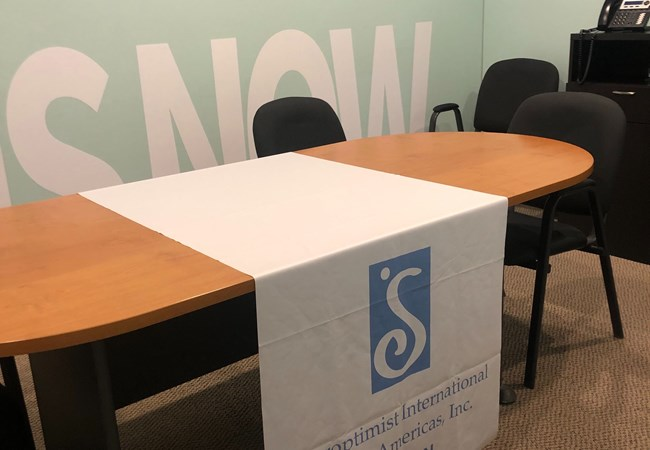 Soroptimist International of Dayton, OH | Table Throw | Tablecloth| Corporate Branding Signs | Trade Show Booths | Nonprofit Organizations and Associations Signs | Dayton, OH