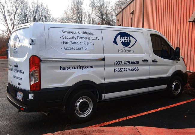 HSI Security | Truck & Trailer Wraps | Partial Vehicle Wraps | Professional Services Signs | Dayton, OH