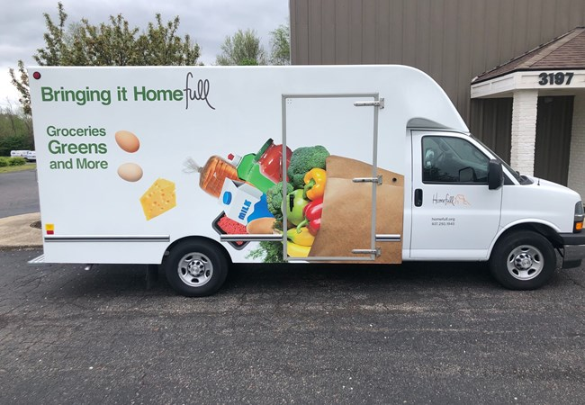 Homefull Groceries Box Truck | Truck & Trailer Wraps | Partial Vehicle Wraps | Nonprofit Organizations and Associations Signs | Dayton, OH