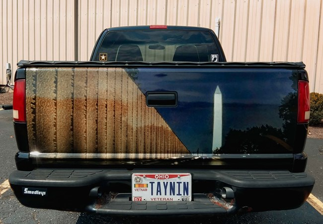 Veteran''s Memorial Tailgate Vinyl | Truck & Trailer Wraps | Partial Vehicle Wraps | Nonprofit Organizations and Associations Signs | Beavercreek, OH