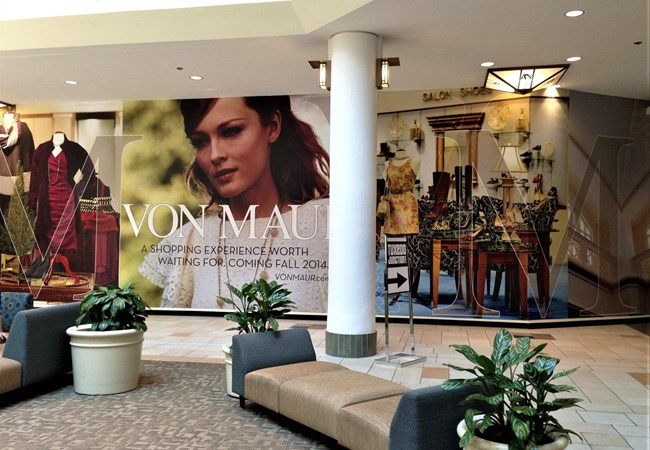 Wall Graphic for Mall Shopping Environment