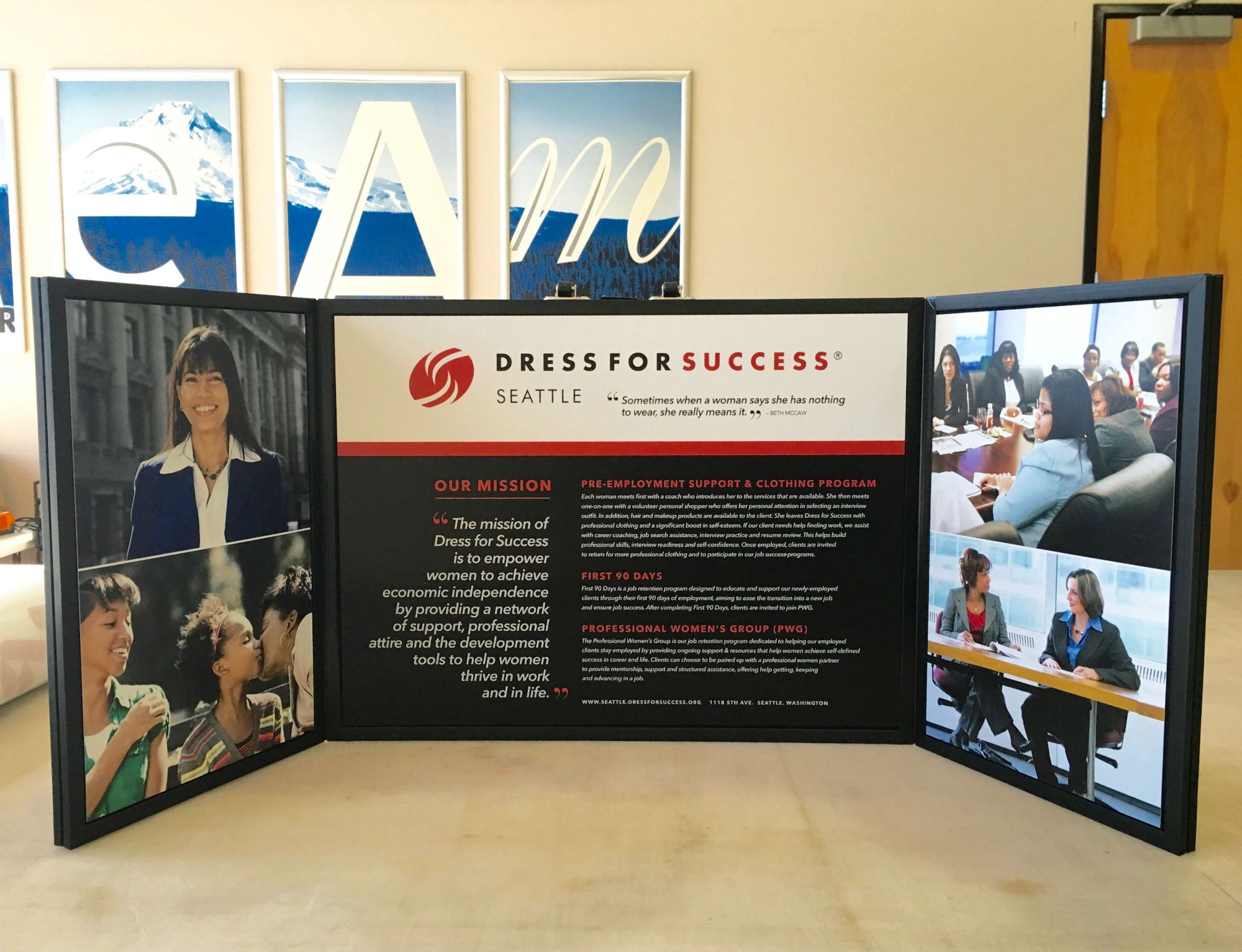 Signs Now Portland  Dress for Success Donation