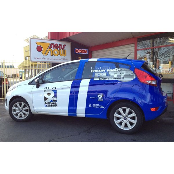 KEZI vehicle wrap