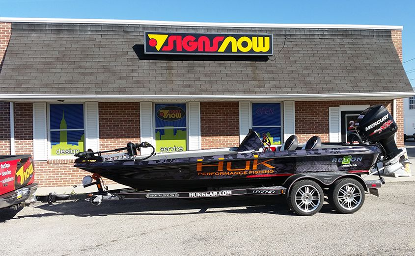 Custom Printed Vinyl Boat Graphics And Wraps Signs Now
