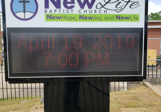 LED & Electric Signs for Business | Digital Display Signage | Churches & Religious Organizations | Montgomery, Al