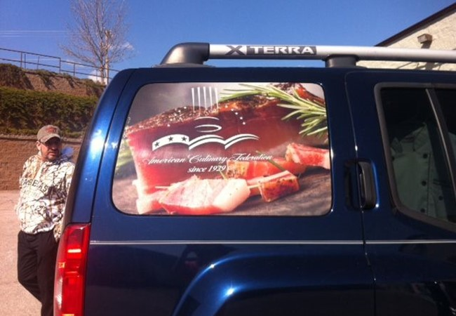 Vehicle Graphics & Lettering for Culinary Institute in Rapid City South Dakota
