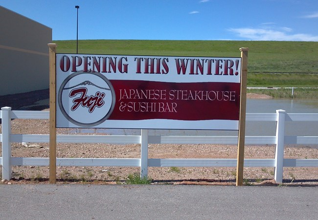 Post & Panel Sign for Japanese Steakhouse | Restaurants, Diners, Bars & Food Truck Signs | Rapid City SD