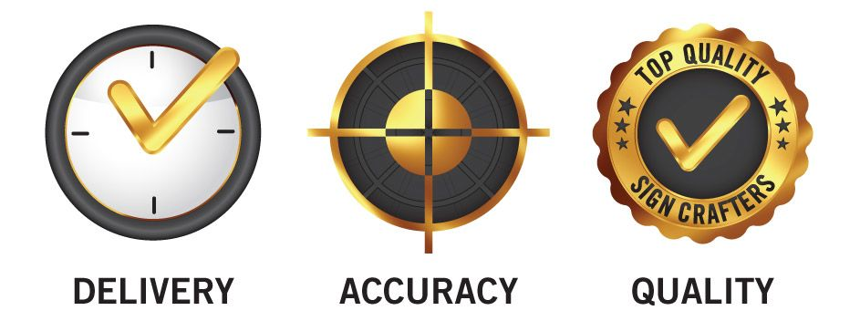 Delivery, Accuracy, Quality