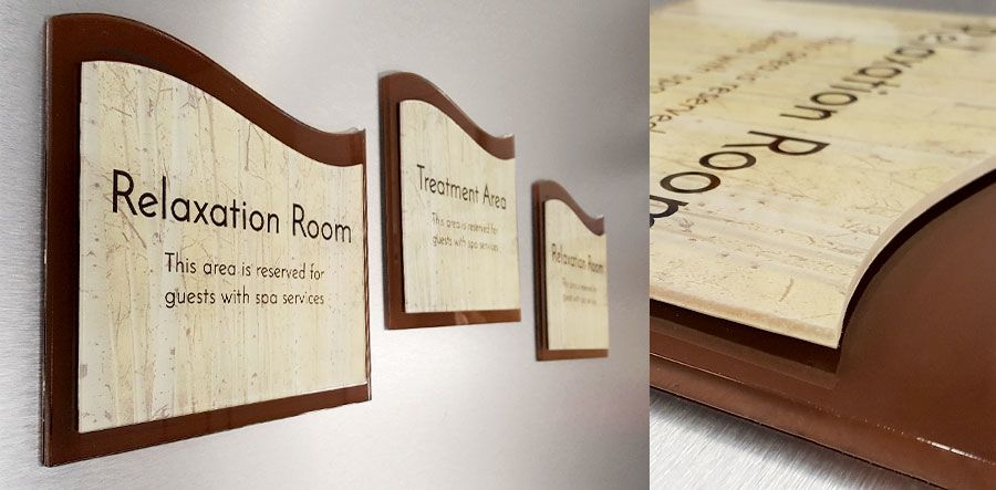 custom shape signs