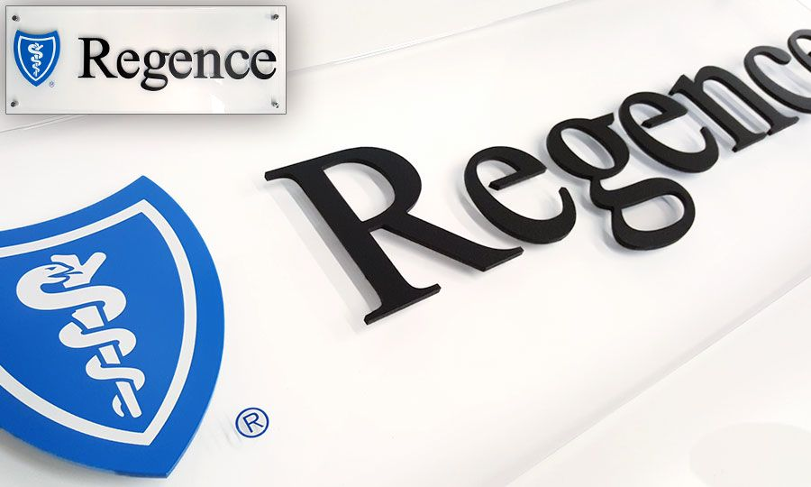 Dimesnional Plexiglass Logo Sign for Insurance Company in Seattle