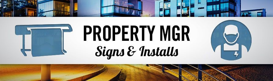 Property Management Signs