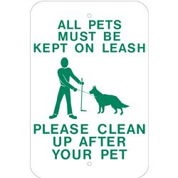 clean up your pet waste sign