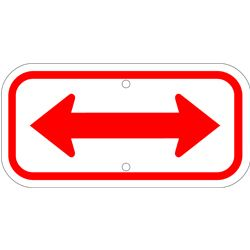 double arrow sign red