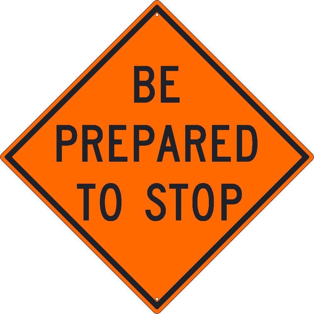 temporary traffic warning signs