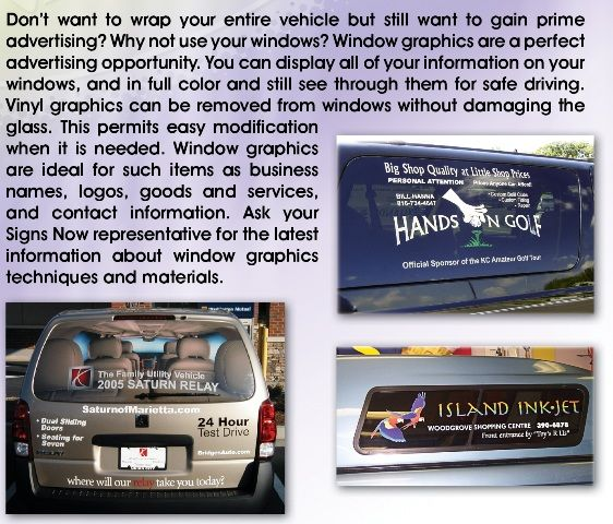 Window Decals Window Graphics Window Stickers Window Clings - Custom vinyl decals for cars   removal options
