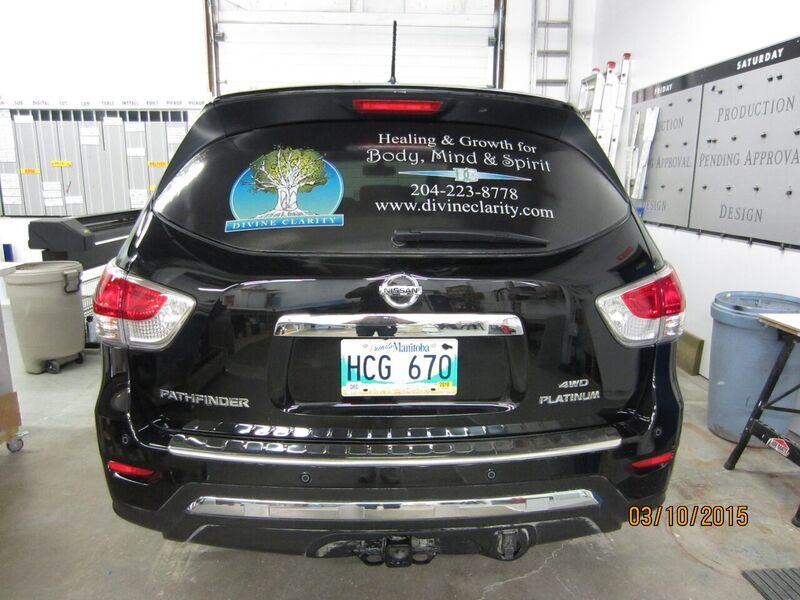 Custom Vehicle Window Decals Graphics Signs Now Winnipeg - Window decals custom vehicle