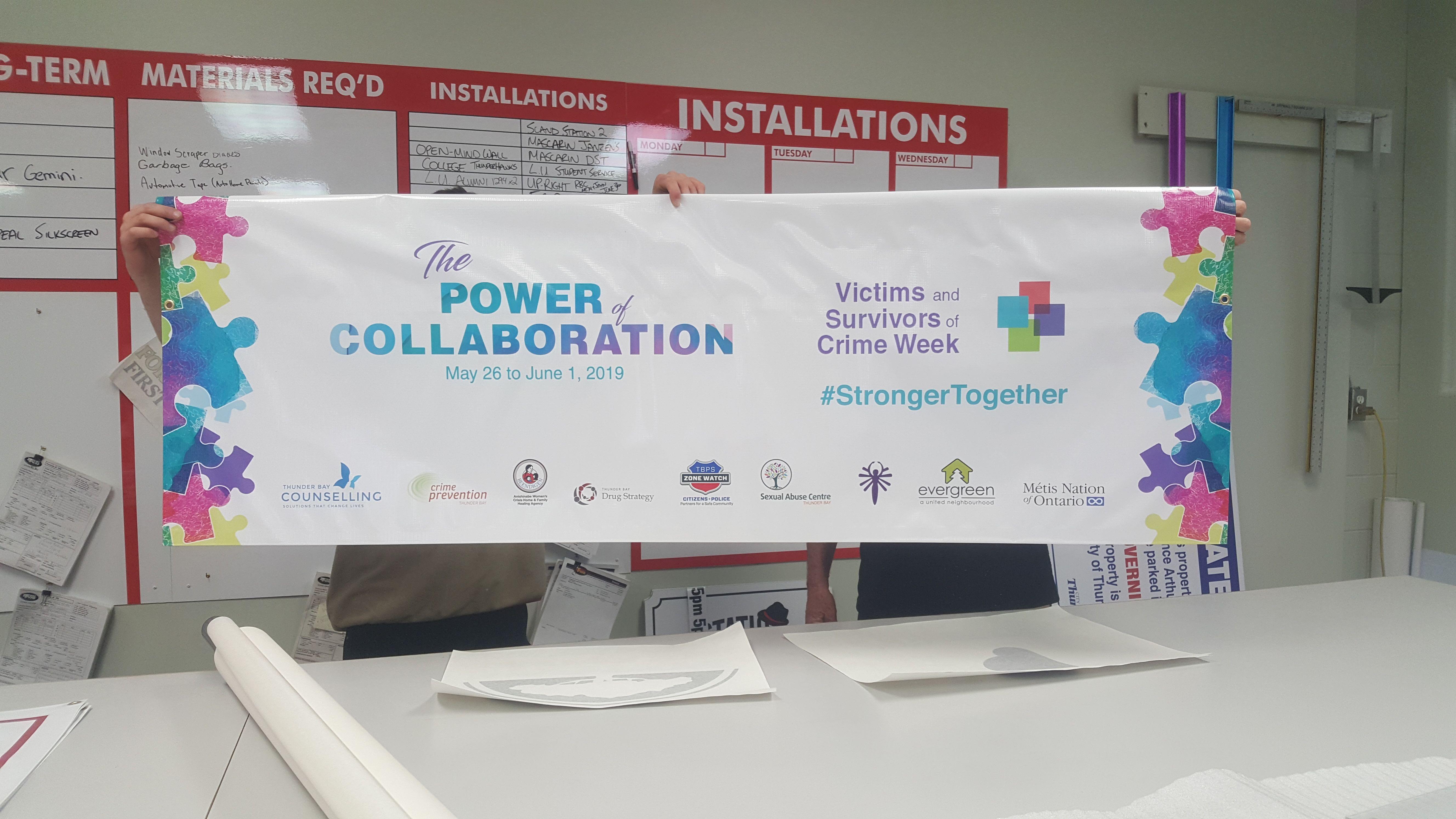 Thunder bay counselling centre vinyl banner
