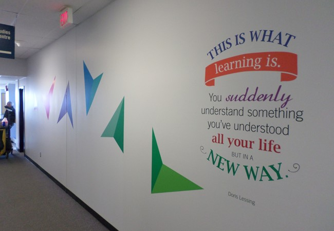Wall Graphics and Murals | Wall Letters | Education, School & University Signs | Thunder Bay, ON