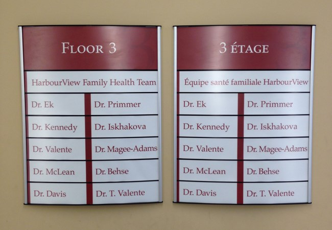 Wayfinding and Directory Signs | Hospital & Medical Clinic Signs | Thunder Bay, ON