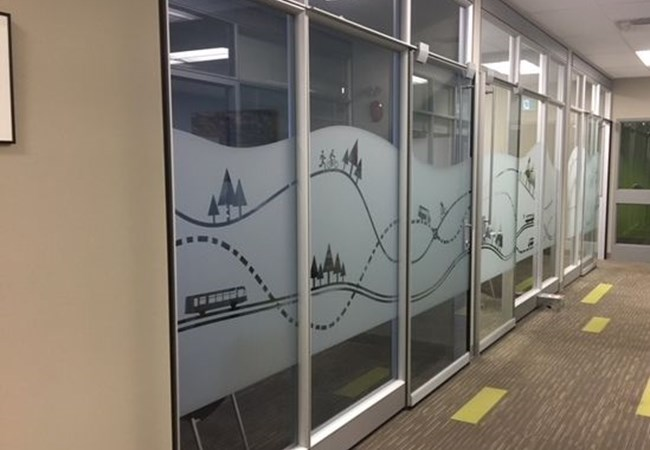 Window Graphics (Etched) | Transportation, Logistics and Distribution Signage | Thunder Bay, ON