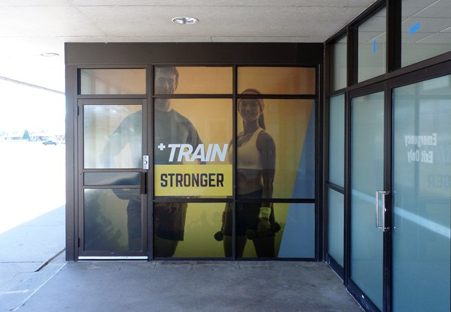 Window Graphics (Perforated) | Outdoor Wall Letters & Graphics | Gym, Sports and Fitness Signs | Thunder Bay