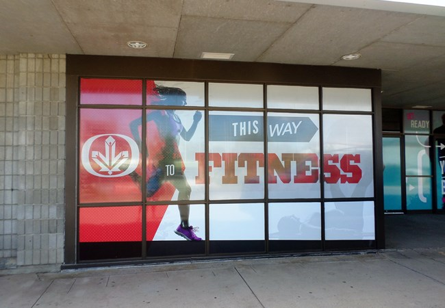 Window Graphics (Perforated) | Outdoor Wall Letters & Graphics | Gym, Sports and Fitness Signs | Thunder Bay, ON
