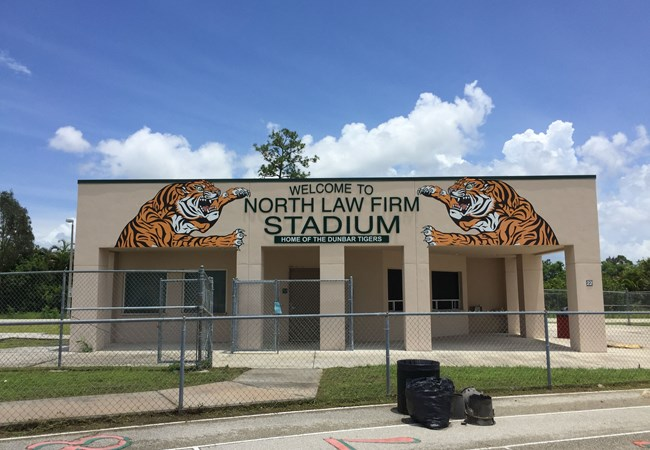3D Dimensional Sign and Wall Graphics for North Law Firm Stadium in Fort Myers, FL