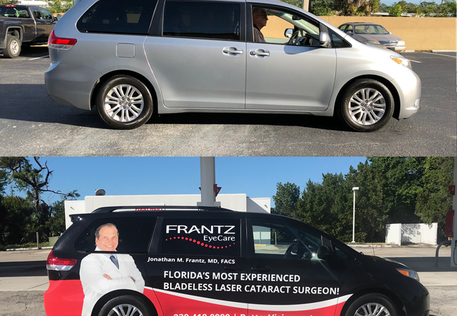 Full Vehicle Wrap for Laser Cataract Surgeon in Fort Myers, FL