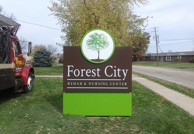 Custom Monument Signs | Monument Signs - Rockford | Assisted Living and Senior Care Signs | Rockford, IL