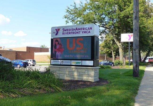 Custom Monument Signs | LED & Electric Signs for Business | Gym, Sports and Fitness Signs | Rockford, IL