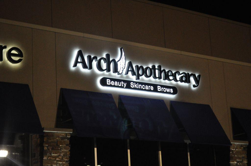 Illuminated storefront sign
