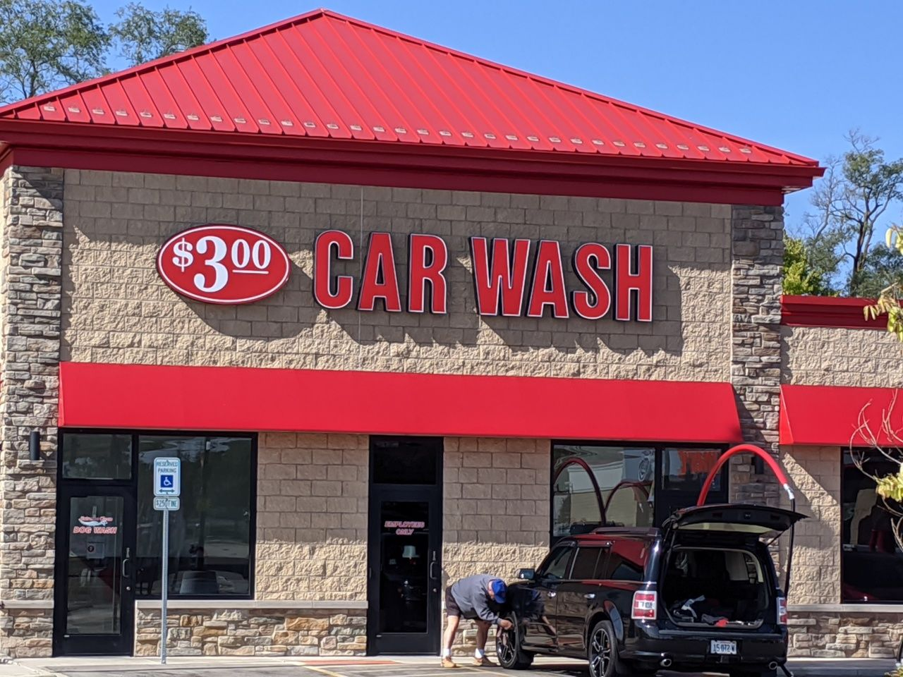storefront sign idea for car wash