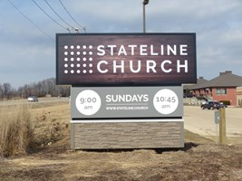 Stateline Church Monument