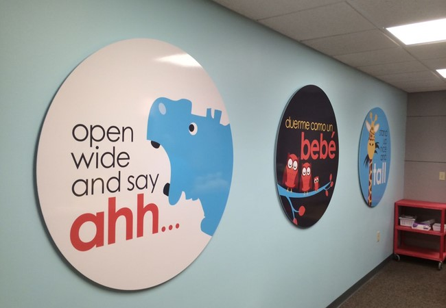 Reception Area Signs | Wall Graphics and Murals | Hospital & Medical Clinic Signs | Wichita, Kansas