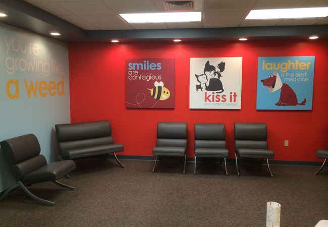 Custom Graphics & Vinyl Decals | Reception Area Signs | Hospital & Medical Clinic Signs | Wichita, Kansas