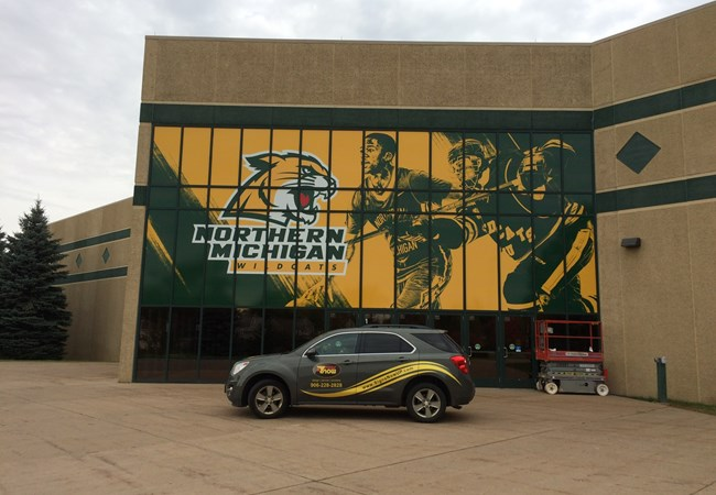 Window Graphics | Wall Graphics and Murals | Education, School & University Signs | Marquette, Michigan