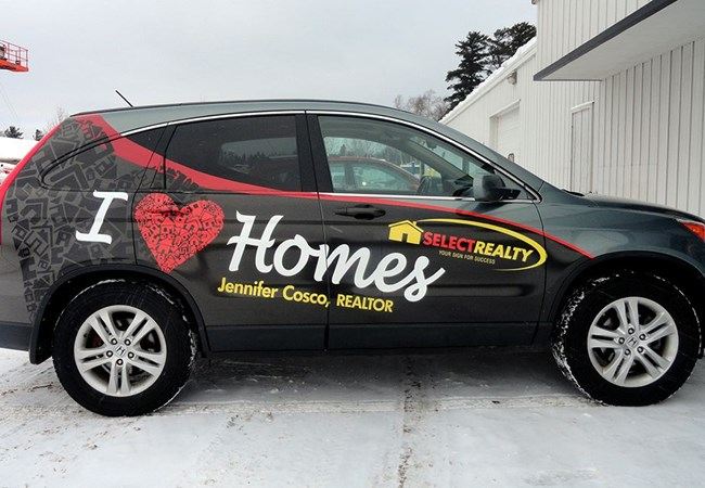 Custom Vehicle Graphics and Lettering | Partial Vehicle Wraps | Real Estate