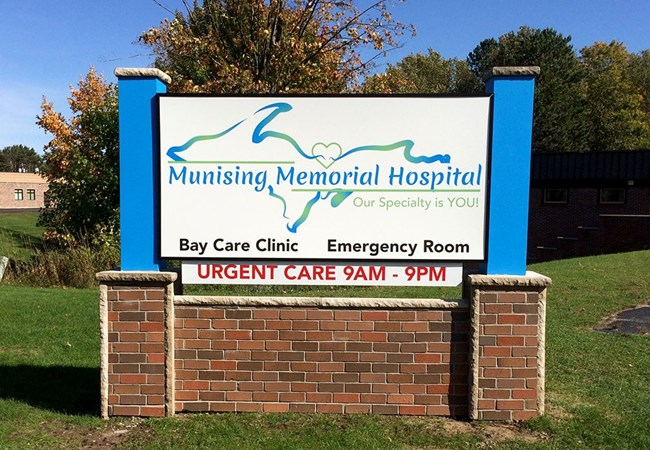 Custom Monument Signs | Light Boxes | Healthcare | Munising, MI