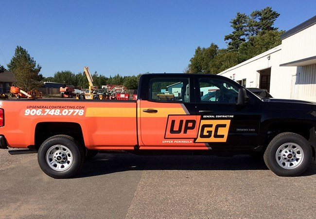 Partial Vehicle Wraps | Custom Vehicle Graphics and Lettering | Construction