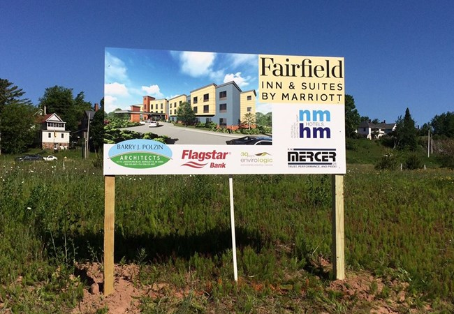 Post & Panel Signs | Construction | Munising, MI | Site sign