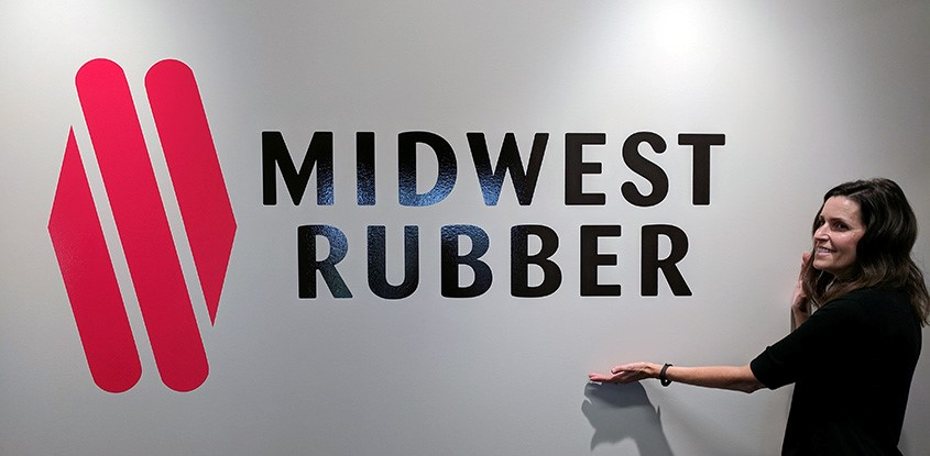 Wall graphics for Midwest Rubber