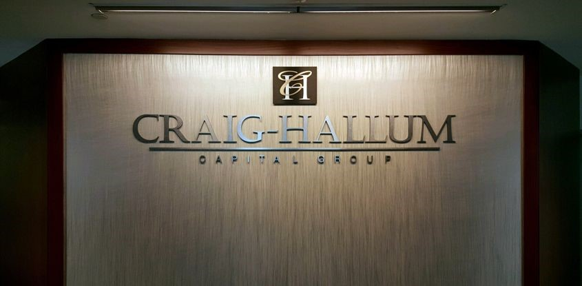 Dimensional Letters and Logo for Craig-Hallum Property Group