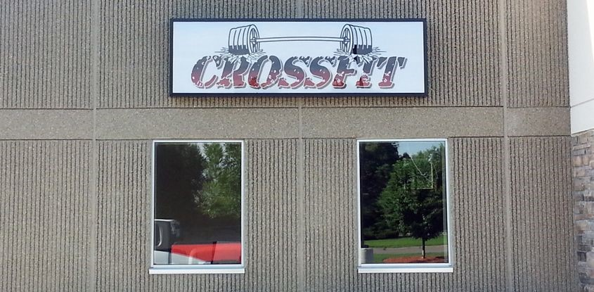 Light Cabinet for Crossfit Blaine