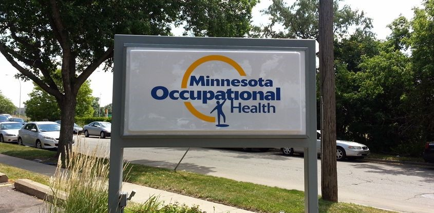 Illuminated Sign for Minnesota Occupational Health