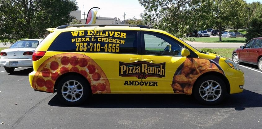 Vehicle Graphics & Lettering for Pizza Ranch (Andover)