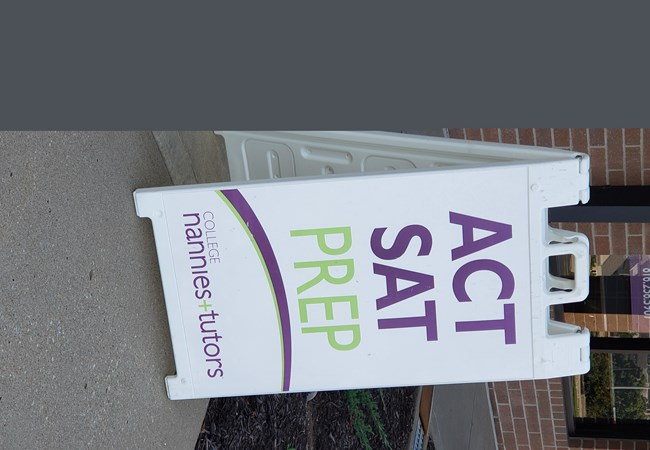 A-frame Retail Store Signs | Freestanding Signs and Cutouts | Education, School & University Signs | Kansas City, MO | ACT sign | Tutor | Education | ACT Prep