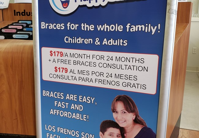 Freestanding Signs and Cutouts | Banner Stands | Dentist, Orthodontist and Oral Surgeon Signs | Kansas City, MO