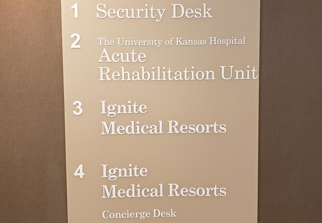Standoff Signs | Wayfinding Signs | Healthcare Signs | Kansas City, MO