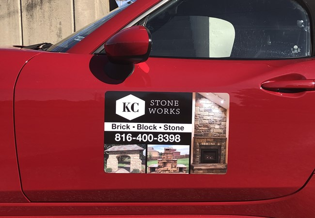 Vehicle Magnets | Custom Vehicle Graphics and Lettering | Interior Design Firm Signs | Kansas City, MO