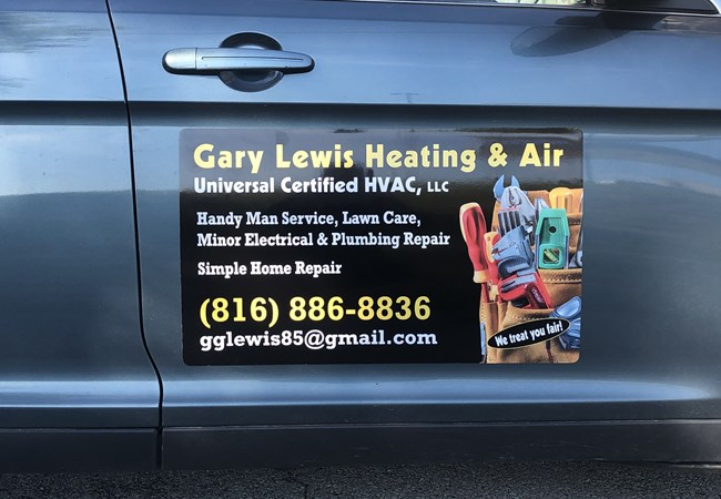Vehicle Magnets | Custom Vehicle Graphics and Lettering | Contractor & Construction Signs | Kansas City, MO